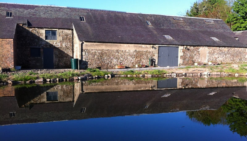 The Barn and Pond at Cormiston
