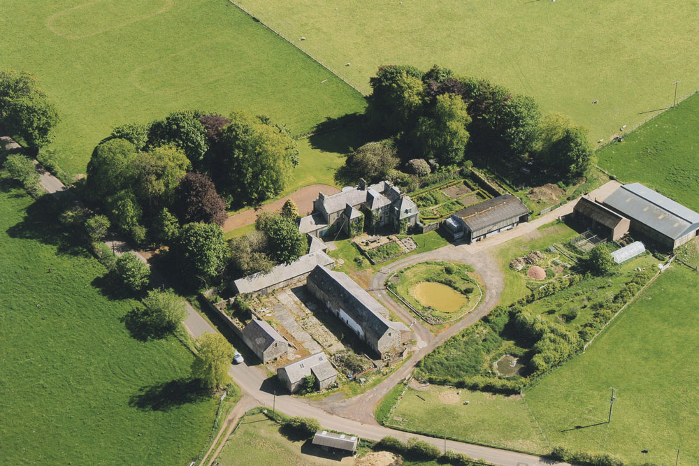 Cormiston farm from the Air