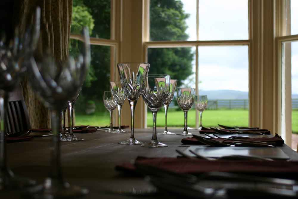 Dining Room overlooking the Southern Uplands