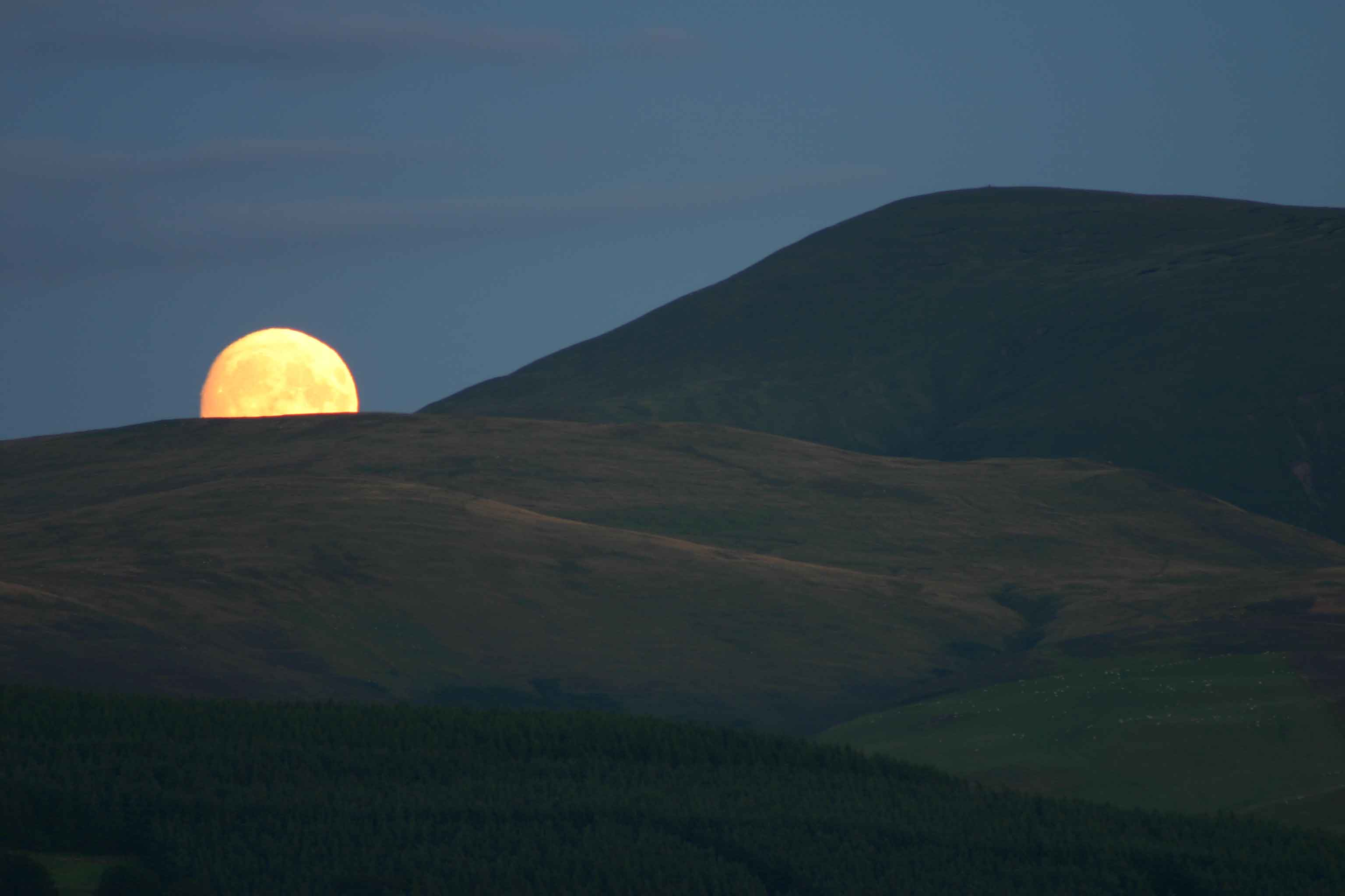 Moonrise over Culter Fell