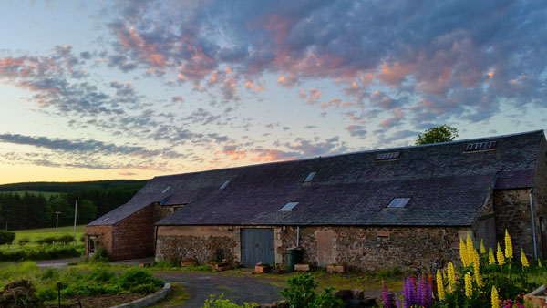 Sunset on the old Barn at the back of the house
